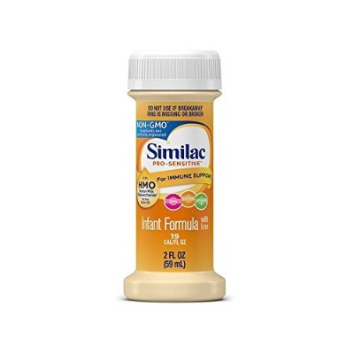 Similac Sensitive for Fussiness and Gas, Pack of 4 - 2 Fl Oz Bottles by Similac