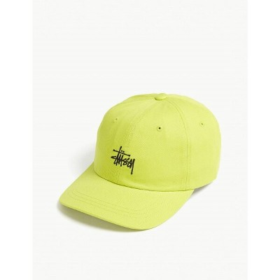 ステューシー stussy メンズ 帽子 キャップ【stock logo low-profile cotton strapback cap】Lime