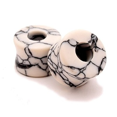 Howlite Stoneトンネル–0G–8mm–Sold As Aペア