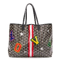 Goyard Vintage patches print tote bag - ブラック