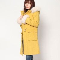 【SALE 60%OFF】ミーア プロデュースド バイ ルーミィーズ MIIA produced by Roomy's OUTLET ファーダッフルコート (イエロー)