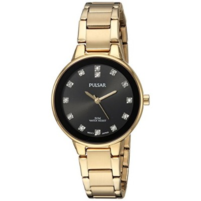 パルサー SEIKO セイコー 腕時計 レディース Pulsar Women's Quartz Brass and Stainless Steel Casual Watch, Color:Gold...