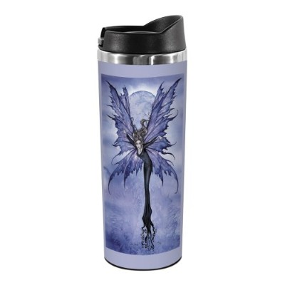 Tree-Free Greetings TT01550 Amy Brown Fantasy 18-8 Double Wall Stainless Artful Tumbler, 410ml,...