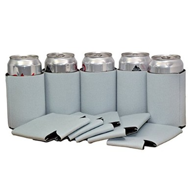 プレミアム空白Canクーラー袖Soft Drink Collapsible Insulator Coolers (50 , Frost Gray)
