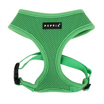 Puppia Soft Dog Harness, Green, Large by Puppia