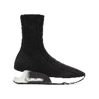 Ash ankle high sock sneakers - ブラック