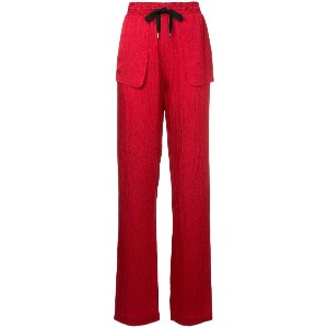 Roland Mouret patch pocket trousers - レッド