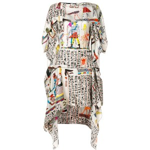 Jean Paul Gaultier Vintage printed layered dress - マルチカラー