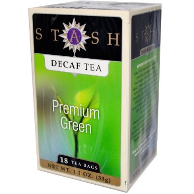 Stash Tea, Premium Green, Decaf Tea, 18 Tea Bags, 1.1 oz (33 g)