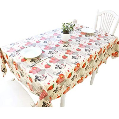 (130cm x 130cm , Color-no.011) - DuoFire Vinyl Tablecloth Square Wipe Clean Table Cover Waterproof...