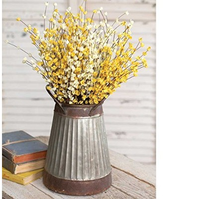 Two Toned Tapered亜鉛メッキCorrugated Pail / Dried Flower Vase