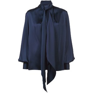 The Row loose fit blouse - ブルー