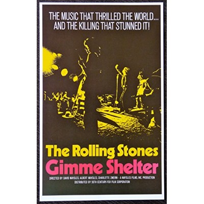 The Rolling Stones–Gimme Shelter–映画広告ミニポスター