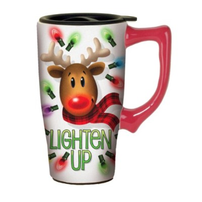 Spoontiques Lighten Up Travel Mug , Multi Colored