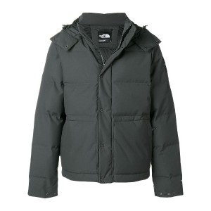 The North Face hooded padded jacket - グレー