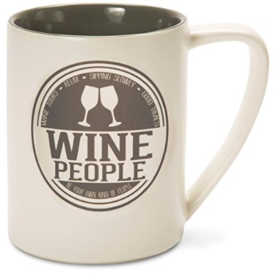 Pavilion Gift Company 67086 We People Wine People Ceramic Mug, 530ml, Multicolor