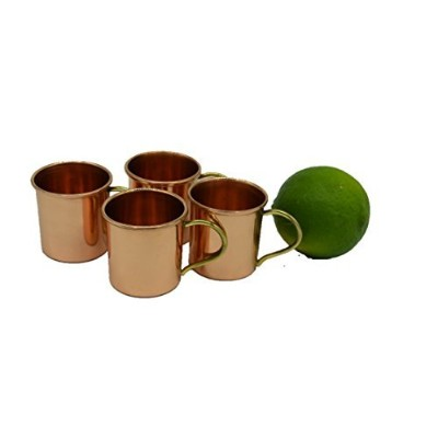 Set of 4 – Hammered CopperバレルShotglasses - 100 % Pure Copper by Alchemade