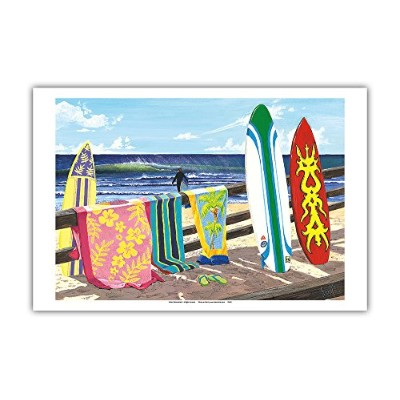 Pacifica Island Art Warm Weather – Surfboardアート – From anオリジナルカラーペイントby Scott Westmoreland –...