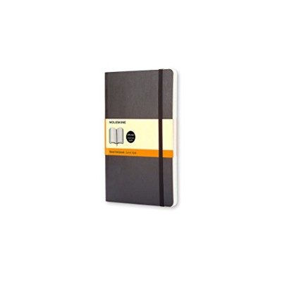 Moleskine Classic Notebook, Large, Ruled, Black, Soft Cover (5 x 8.25) (Classic Notebooks)