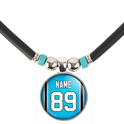 Carolina Football JerseyネックレスPersonalized with your name and number