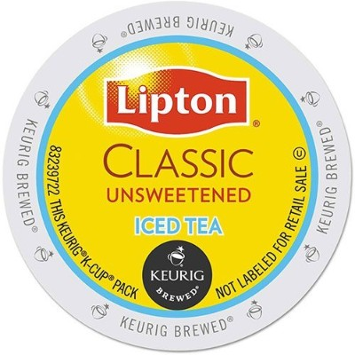 Lipton Classic Iced Unsweetened Tea K-Cup Packs, 18 count by Lipton