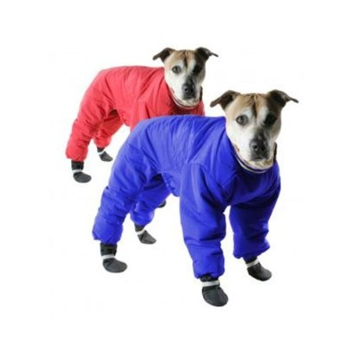 Muttluks Four Legged Nylon Reversible Dog Snow Suit, Size 8, Red/Blue by Muttluks