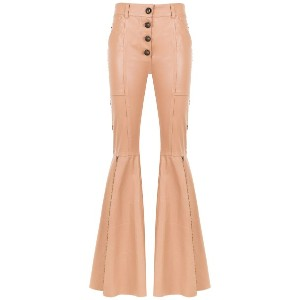Andrea Bogosian panelled leather trousers - ニュートラル