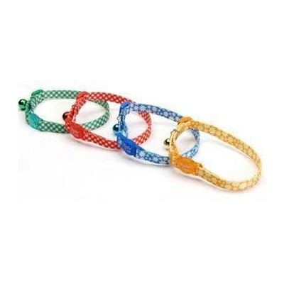 Coastal Pet Products CCP6781CKR Fashion Safe Cat Adjustable Breakaway Collar with Bells, Checkered...