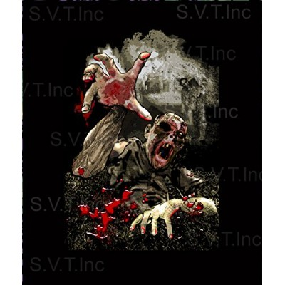 NT Walking Dead Zombie Luxury Plushクイーンサイズ毛布 – 79 x 95インチ