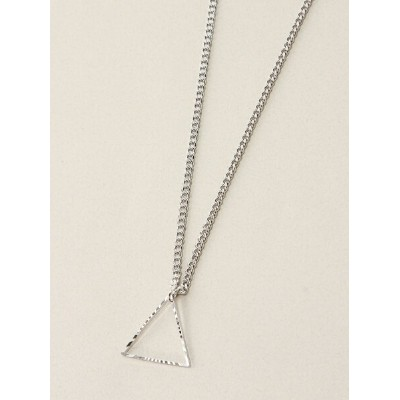 DOUBLE STEAL TRIANGLE CHAIN NECKLACE ダブルスティール アクセサリー