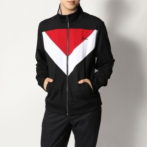 【SALE 50%OFF】ゲス GUESS KEITH COLOR-BLOCK TRACK JACKET (JET BLACK MULTI)