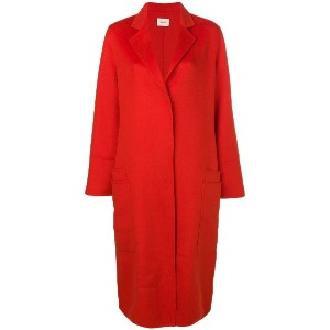 Odeeh concealed fastening coat - レッド