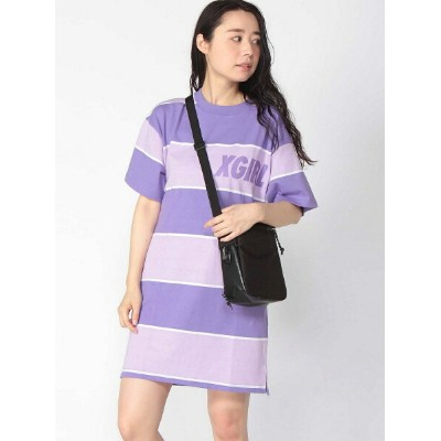 X-girl S/S STRIPED T DRESS エックスガール カットソー【送料無料】