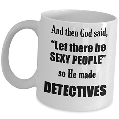 Detectiveコーヒーマグ–Let There Beセクシーな人–男性のギフトPrivate Investigator探偵Officer Operative Crime Law...