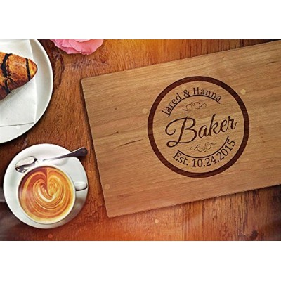 Personalizedカッティングボードウェディングギフトby Frooluカスタマイズされた刻印祝いギフト記念日ギフトChopping Cheese Board Wood Fast...