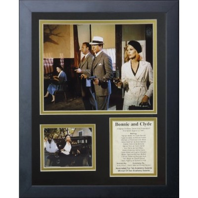 """Bonnie and Clyde 11 """" x 14インチフレーム写真コラージュby Legends Never Die , Inc。"""