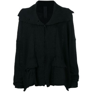 Rundholz wide buttoned cardigan - ブラック