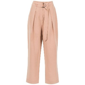 Andrea Marques belted cropped trousers - ニュートラル