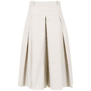 Andrea Marques pleated culottes - ニュートラル