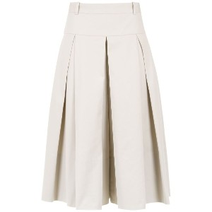 Andrea Marques pleated culottes - ヌード&ナチュラル