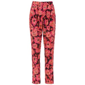 Andrea Marques printed straight trousers - ブラック