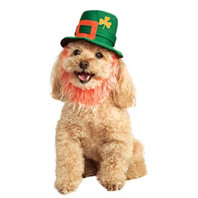 Rubies Costume Company St. Patty's Day Pet Costume Hat with Beard, Small/Medium by Rubie's Costume...