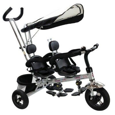 2人乗り 三輪車 双子用 シート可動 タンデム Costzon 4 In 1 Dual Twins Kids Trike Baby Toddler Tricycle Safety Double...