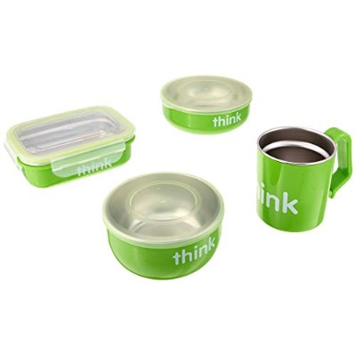 Thinkbaby Feeding Set - BPA Free - Green
