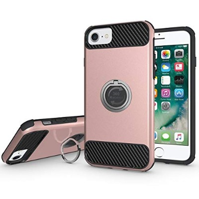 (Rose Gold) - iPhone 7 Case, PHEZEN Hybrid Shockproof Heavy Duty Dual Layer Protective Case Hard PC...