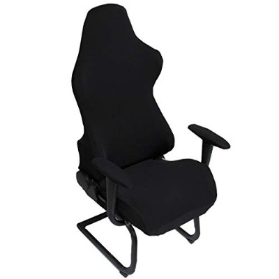 (Black) - Deisy Dee Slipcovers Cloth Stretch Polyester Chair Cover for Reclining Racing Gaming...