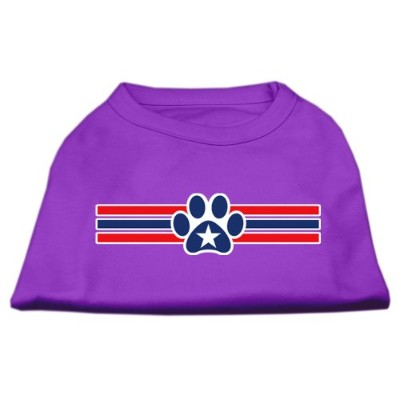Mirage Pet Products 51-17-04 SMPR Patriotic Star Paw Screen Print Shirts Purple S - 10
