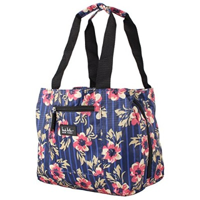 (Flower Navy) - Nicole Miller of New York Insulated Lunch Cooler 28cm Lunch Tote (Flower Navy)