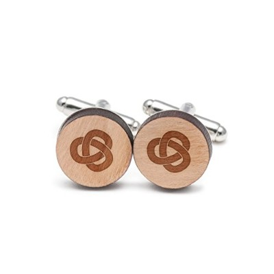 Trefoil Knot Cufflinks , Wood Cufflinks Hand Made In The USA