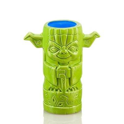 ThinkGeek geeki Tikis Yoda 414mlセラミックDrinking Mug – officially-licensed Star Wars Merchandise